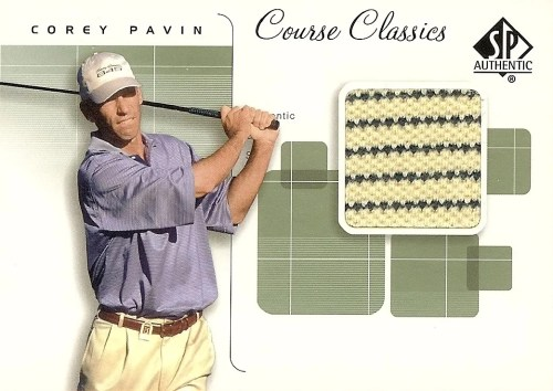 2002 Upper Deck SP Authentic Golf Shirt Corey Pavin Card