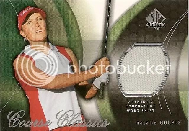 2004 Upper Deck SP Authentic Golf Shirt CC4 Natalie Gulbis Card