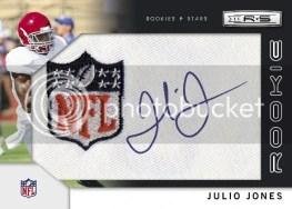 2011 Rookies & Stars Julio Jones NFL Shield Auto RC