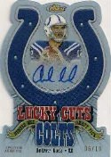 2012 Topps Finest Andrew Luck Lucky Cuts Autograph #/10