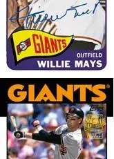 2012 Topps Archives Original Willie Mays Autograph Card
