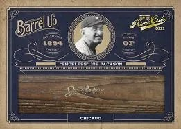 2011 Playoff Prime Cuts Shoeless Joe Jackson Bat Barrel