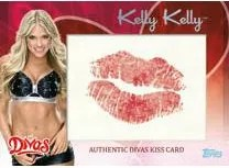 2012 Topps WWE Diva Kiss Card Kelly Kelly