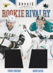 2011/12 Panini Rookie Anthology RC Rivalry Dual Jersey Card #33 Harri Sateri - Tomas Vincour