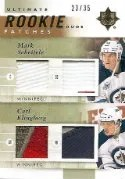 11/12 Ultimate Collection Dual RC Patch URJ2-KS Mark Scheifele - Carl Klingberg