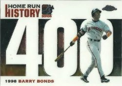 2006 Topps Chrome Home Run History Barry Bonds #400