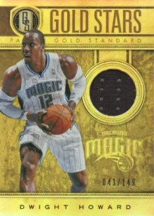2011-12 Panini Gold Standard Gold Stars Dwight Howard Jersey Card
