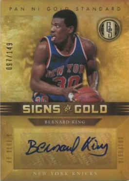 2011-12 Panini Gold Standard Signs of Gold Bernard King Autograph Card