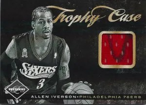 2011-12 Panini Limited Trophy Case Allen Iverson Jersey Card