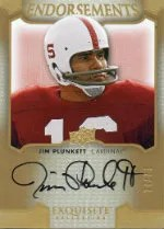 2011 Upper Deck Exquisite Jim Plunkett Endorsements Autograph