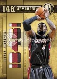 2011-12 Panini Gold Standard LeBron James 14K Memorabilia Card