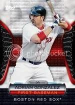 2012 Topps Golden Giveaway Adrian Gonzalez Golden Moments