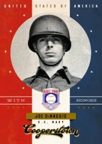 2012 Panini Cooperstown With Honors Joe DiMaggio Card