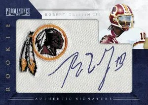 2012 Panini Prominence Robert Griffin III Autograph Team Logo Patch Card