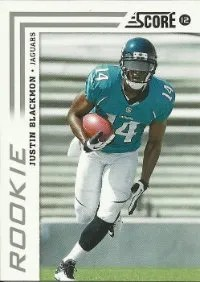 2012 Score Football Justin Blackmon RC Card