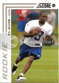 2012 Score Football T.Y. Hilton Rookie