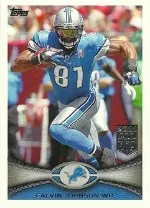 2012 Topps Calvin Johnson Base Card #400