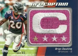 2012 Topps Brian Dawking Pink NFL Captain Patch Card