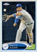 2012 Topps Chrome Matt Kemp Base Card #120