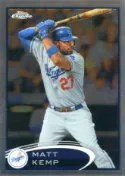 2012 Topps Chrome Matt Kemp SP Photo Variation Card
