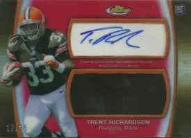 2012 Topps Finest Trent Richardson Jumbo Patch