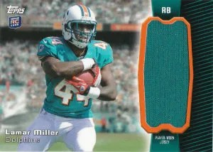2012 Topps Lamar Miller Rookie Jersey Relic Card