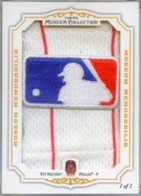 2012 Topps Museum Collection Roy Halladay MLB Logo Patch Card