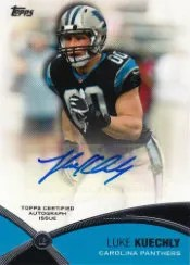 2012 Topps Prolific Playmakers Luke Kuechly Autograph Card