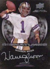 2012 Upper Deck Exquisite Black Warren Moon Autograph