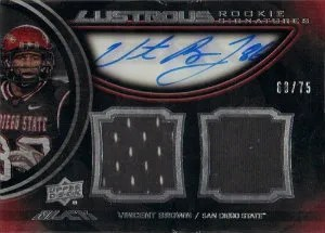 2012 Upper Deck Exquisite Vincent Brown Autograph Jersey RC