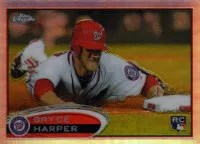 2012 topps Chrome Bryce Harper SP Photo Variation #196