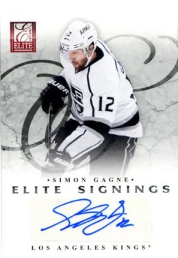 2011-12 Donruss Elite Signings Simon Gagne Autograph Card