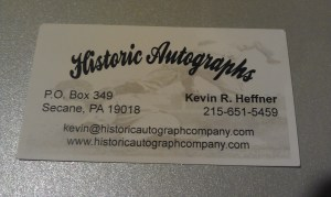 Historic Autographs Business Card
