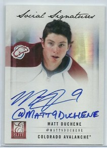 2011-12 Donruss Elite Social Signatures #3 Matt Duchene W/Twitter Name