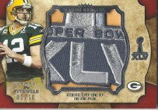 2011 Topps 5 Five Star Aaron Rodgers Super Bowl MVP Pylon