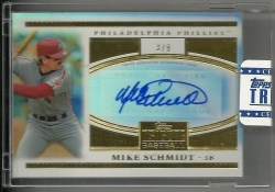 2012 Topps Tribute Mike Schmidt To the Stars Auto