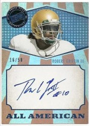 2012 Press Pass Robert Griffin III All American Autograph
