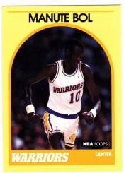 1989-90 Hoops Manute Bol Yellow Border Sears