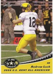 2012 Leaf Draft Andrew Luck US Army Bowl