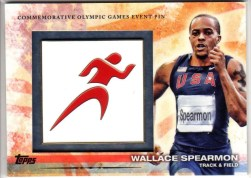 2012 Topps USA Olympics Commemorative Pin Wallace Spearmon