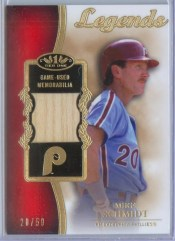 2012 Topps Tier One Mike Schmidt Legends Relic