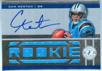2011 Panini Totally Certified Cam Newton Autograph Material RC Card