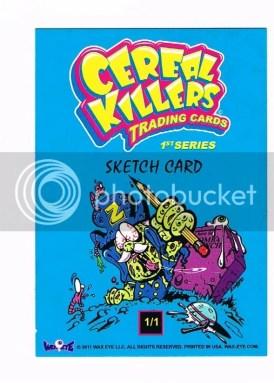 Cereal Killers Series 1 Joe Simko Original Sketch Art Card Back