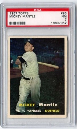 1957 Topps Mickey Mantle #95 Graded PSA 7