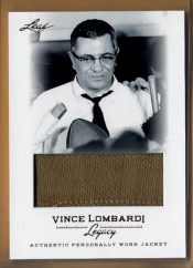 2012 Leaf Vince Lombardi Jacket Card