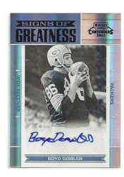 2011 Panini Contenders Boyd Dowler Signs of Greatness Auto
