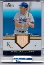 2012 Topps Tribute George Brett Retired Remnants Blue