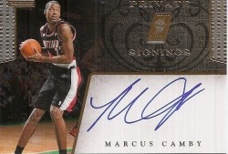 11-12 Panini NBA Hoops Marcus Camby Private Signings