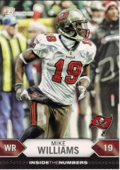 2012 Bowman Mike Williams Inside the Numbers