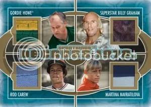 2012 Sportkings Series E Decades 1970 Quad Memorabilia Card